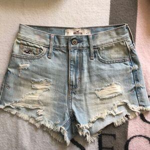 High waisted short shorts